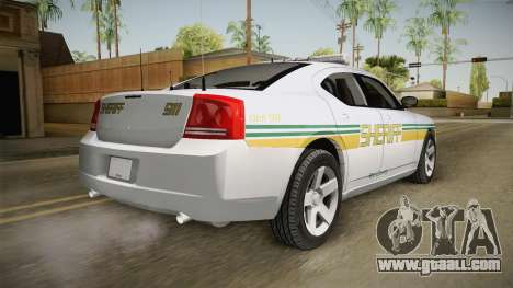 Dodge Charger 2009 Red County Sheriff Office for GTA San Andreas left view