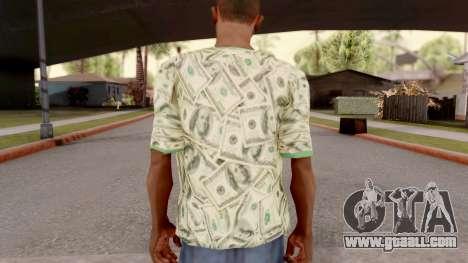 T-Shirt Dollar Style for GTA San Andreas third screenshot