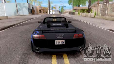 Audi R8 High Speed Police for GTA San Andreas back left view