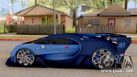Bugatti Vision GT for GTA San Andreas left view
