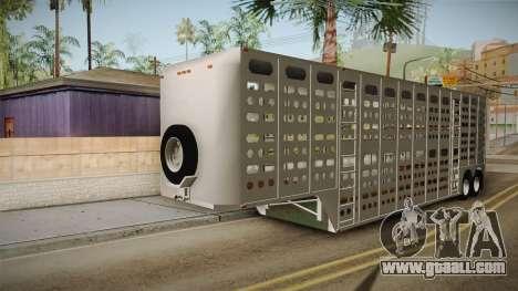 Double Trailer Livestock v1 for GTA San Andreas