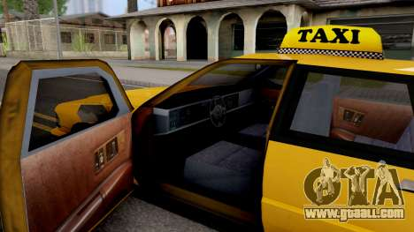 Taxi New Texture for GTA San Andreas inner view