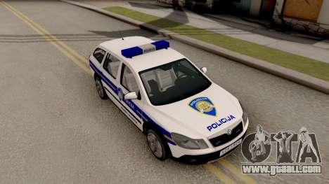 Skoda Octavia Scout Croatian Police Car for GTA San Andreas right view
