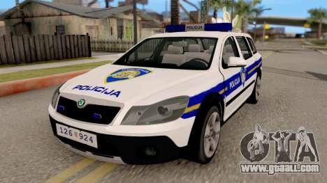 Skoda Octavia Scout Croatian Police Car for GTA San Andreas
