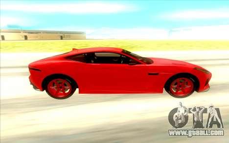Jaguar F Type SVR for GTA San Andreas