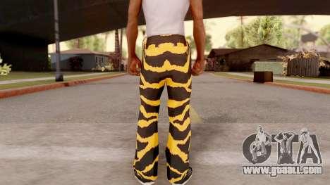 Tiger pants for GTA San Andreas third screenshot