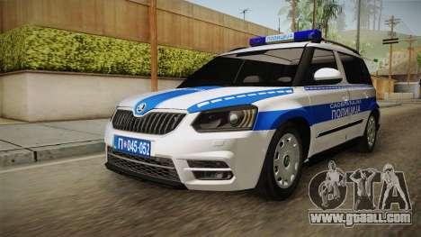 Skoda Yeti Serbian Traffic Police for GTA San Andreas right view