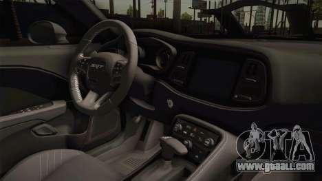 Dodge Challenger SRT Hellcat for GTA San Andreas inner view