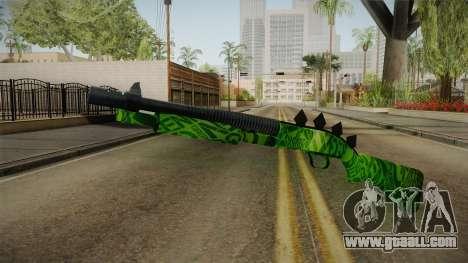 Green Escopeta for GTA San Andreas