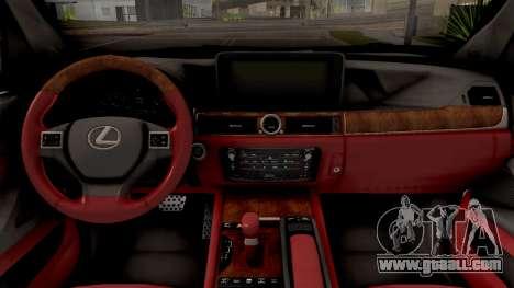 Lexus LX 570 2016 for GTA San Andreas inner view