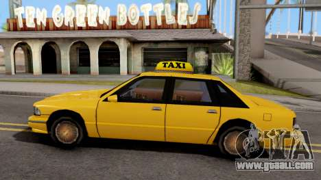 Taxi New Texture for GTA San Andreas left view