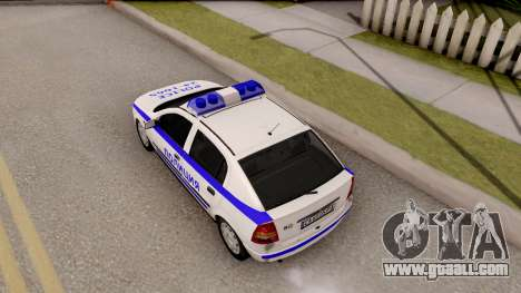 Opel Astra G Bulgarian Police for GTA San Andreas back view