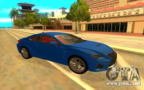 Lexus RC F for GTA San Andreas