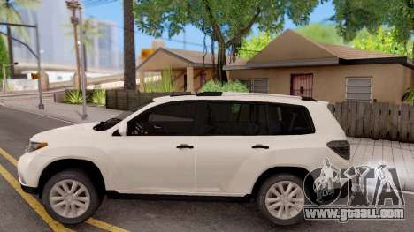Toyota Highlander for GTA San Andreas left view