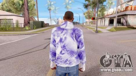 Purple sweatshirt for GTA San Andreas third screenshot