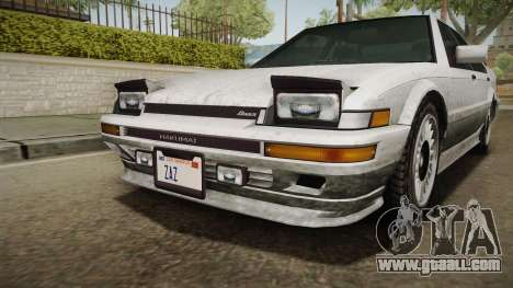 GTA 4 Dinka Hakumai Tuned Bumpers SA Style for GTA San Andreas inner view