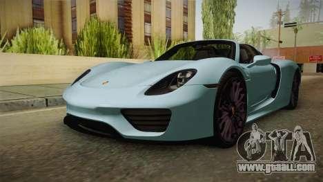 Porsche 918 Spyder for GTA San Andreas