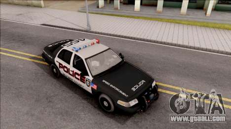Ford Crown Vitoria High Speed Police for GTA San Andreas right view