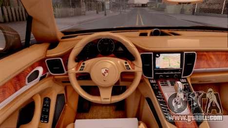 Porsche Panamera GTS 2012 for GTA San Andreas inner view