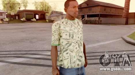 T-Shirt Dollar Style for GTA San Andreas second screenshot