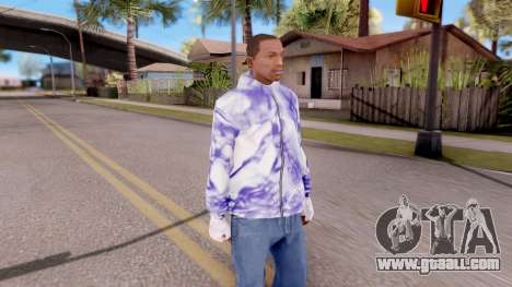 Purple sweatshirt for GTA San Andreas second screenshot