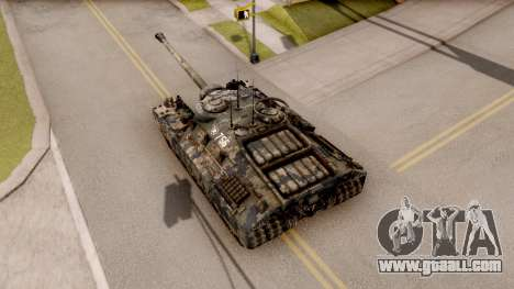 T95 Camouflage Verison for GTA San Andreas back view