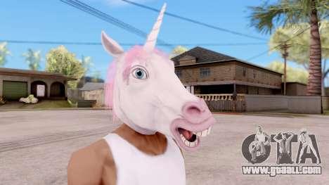 Mask Unicorn for GTA San Andreas second screenshot