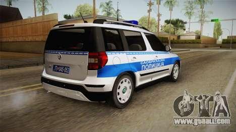 Skoda Yeti Serbian Traffic Police for GTA San Andreas left view