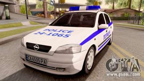 Opel Astra G Bulgarian Police for GTA San Andreas