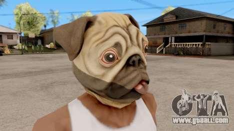 Mask Dog Pug for GTA San Andreas second screenshot