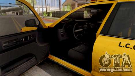 GTA IV Taxi for GTA San Andreas inner view
