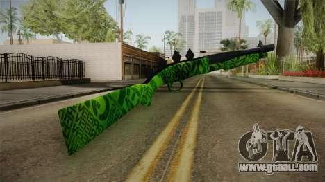 Green Escopeta for GTA San Andreas second screenshot