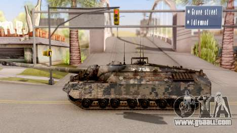 T95 Camouflage Verison for GTA San Andreas left view