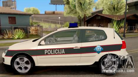 Volkswagen Golf V - BIH Police Car for GTA San Andreas left view
