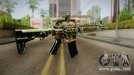 Orange Camo M4 for GTA San Andreas second screenshot