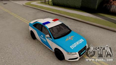Audi S4 Russian Police for GTA San Andreas right view