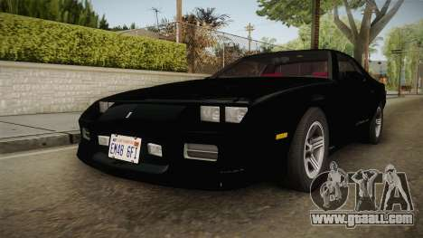 Chevrolet Camaro IROC-Z 1990 1.1.0 IVF for GTA San Andreas right view