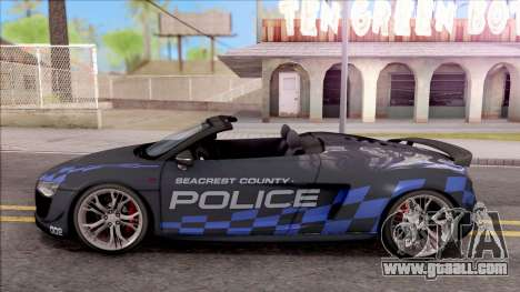 Audi R8 High Speed Police for GTA San Andreas left view