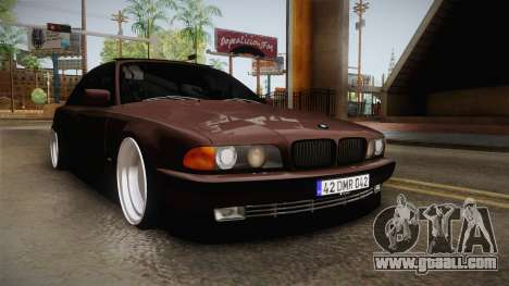 BMW 730i E38 Danker for GTA San Andreas right view