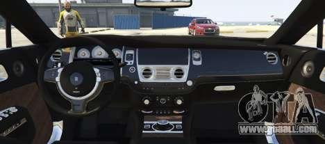GTA 5 Rolls-Royce Wraith 1.1 back view