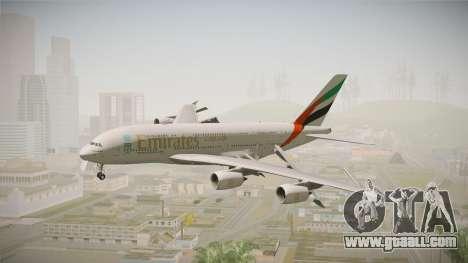 Airbus A380 Emirates Expo 2020 Dubai for GTA San Andreas back left view