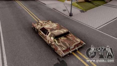 New Paintjob for Remington v2 for GTA San Andreas back view