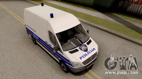 Mercedes-Benz Sprinter Croatian Police Van for GTA San Andreas right view
