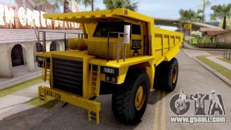 Realistic Dumper Truck for GTA San Andreas