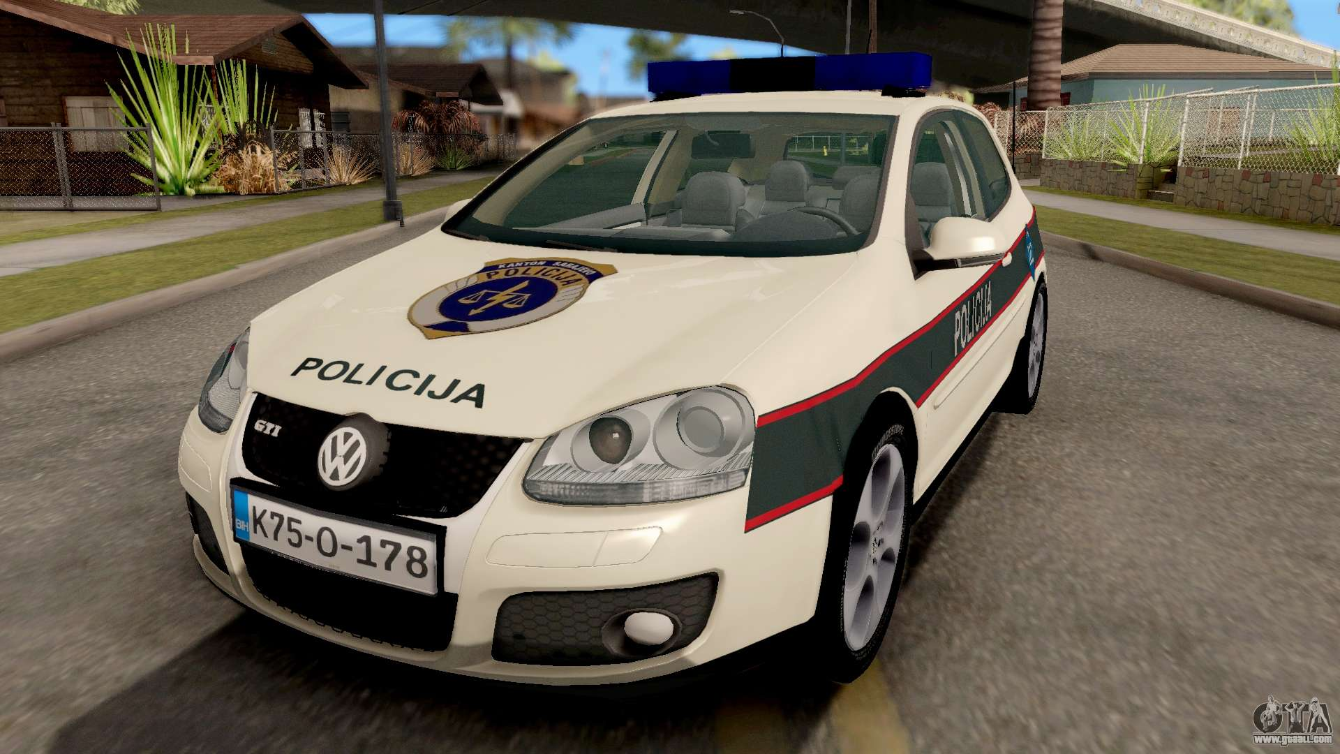 volkswagen golf v bih police car for gta san andreas. Black Bedroom Furniture Sets. Home Design Ideas