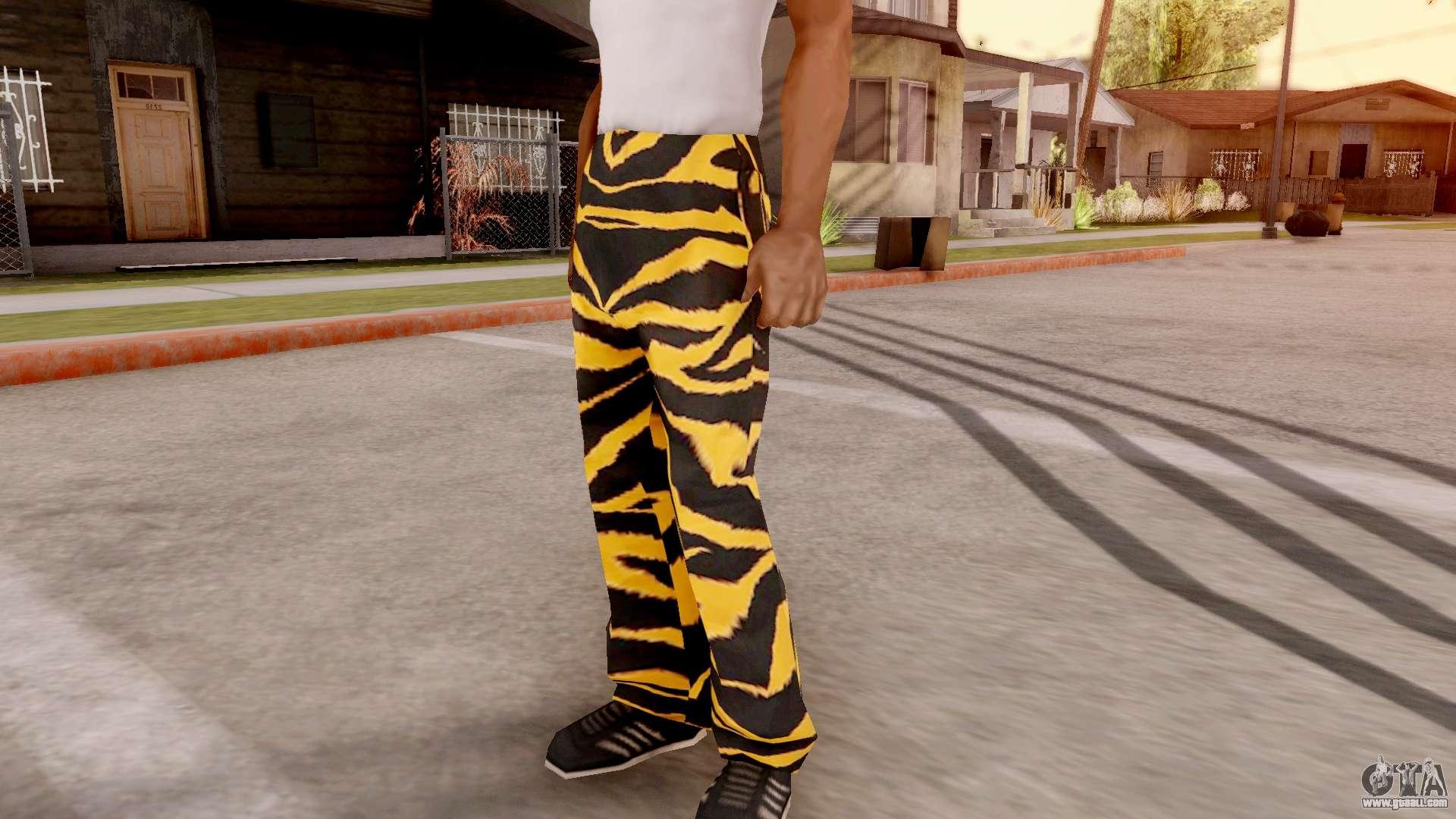 Tiger Pants For Gta San Andreas
