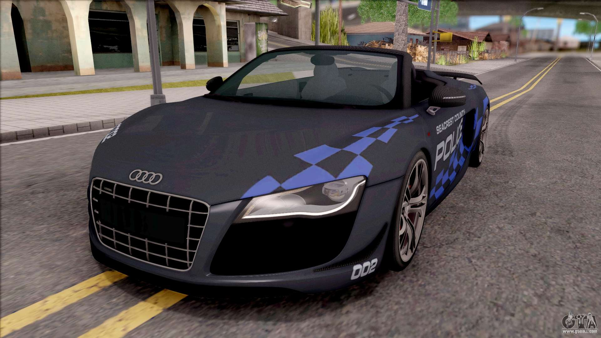 audi r8 high speed police for gta san andreas. Black Bedroom Furniture Sets. Home Design Ideas
