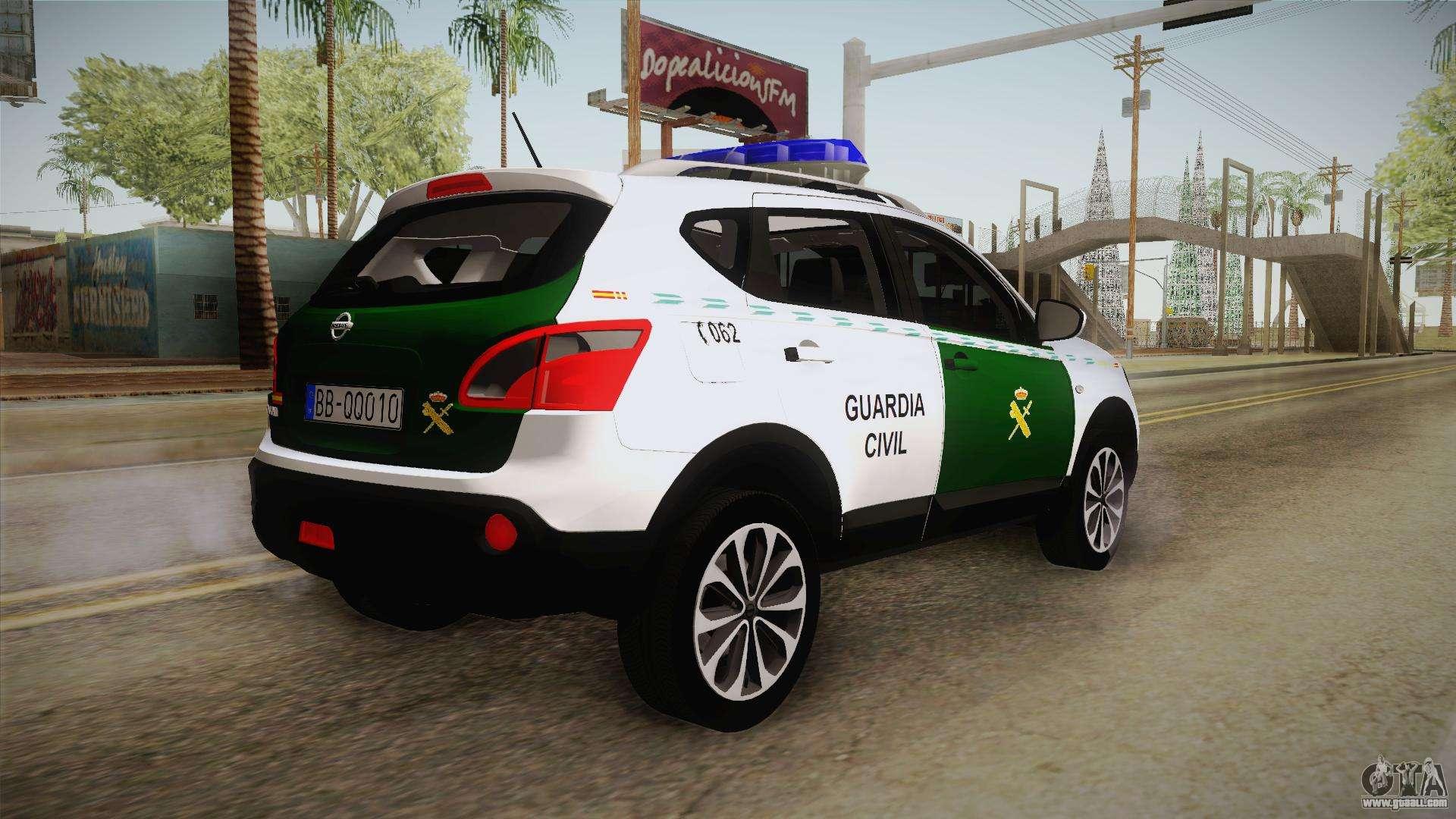 Nissan Qashqai Guatdia Civil Spanish for GTA San Andreas