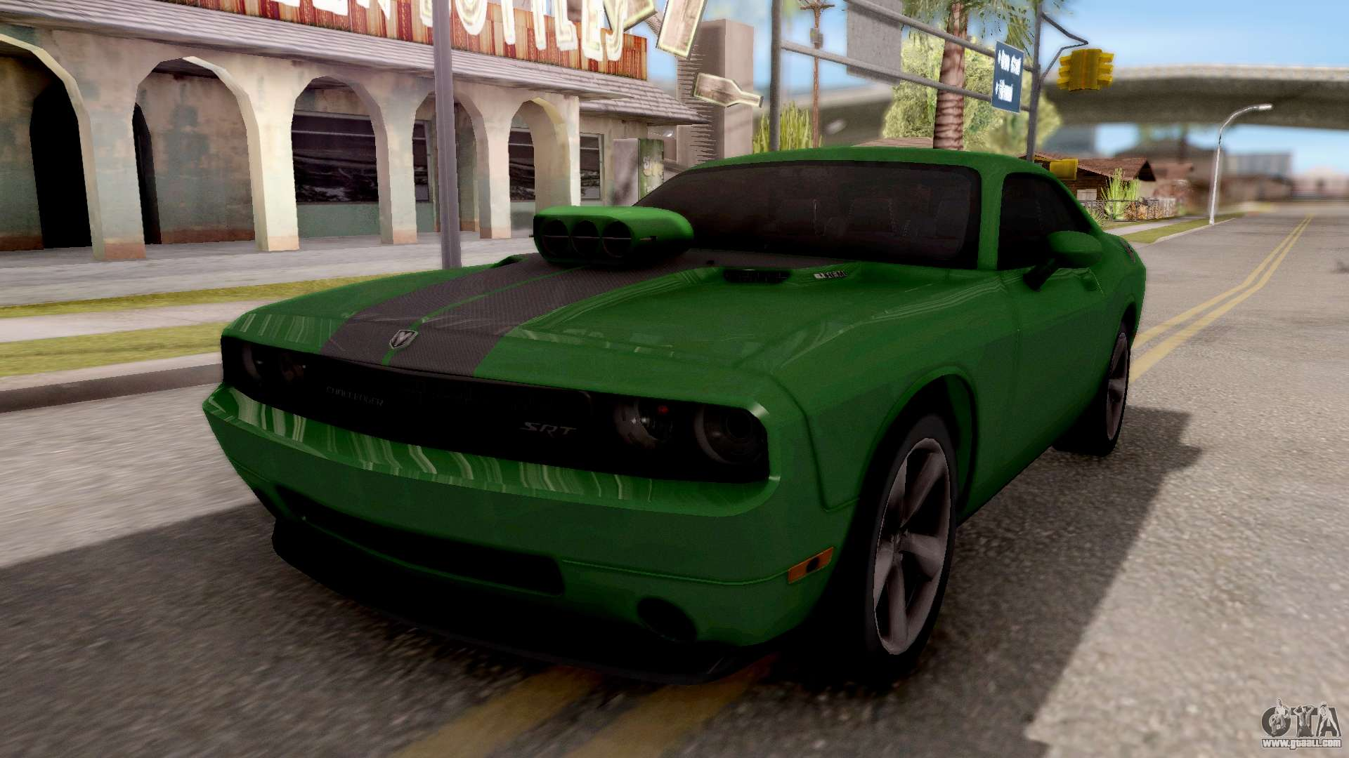 Dodge Challenger SRT 8 2010 Ben 10 Alien Swarm For GTA San Andreas. Cars Nice Look