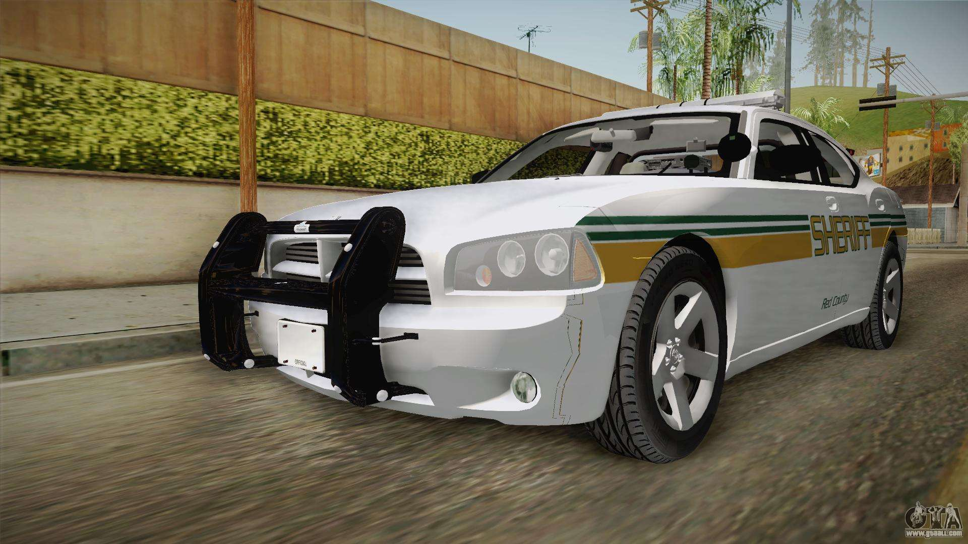 Dodge Charger 2009 Red County Sheriff Office for GTA San Andreas